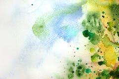 Fondo verde pintado extracto Fotos de archivo