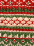 Fondo verde rojo del Knit Fotos de archivo