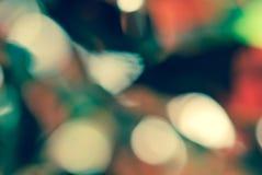 Fondo verde rosso della natura del bokeh di stile d'annata Fotografie Stock