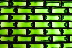 Fondo verde: vidrio Fotografía de archivo libre de regalías