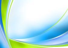 Fondo verde y azul abstracto stock de ilustración