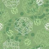 Fondo verde y blanco Imagenes de archivo