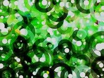 Fondo verde y blanco del extracto de la burbuja Fotos de archivo libres de regalías
