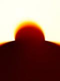 Fondo vertical del bokeh del eclipse del sol foto de archivo