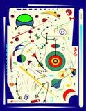 Fondo verticale blu astratto, ispirato dal pittore surrealista Fotografia Stock Libera da Diritti