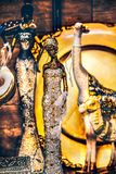 Fondo verticale della statua indiana femminile fotografia stock libera da diritti