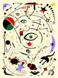 Fondo verticale leggero astratto, stile 17 -270 di arte di surrealismo Fotografia Stock