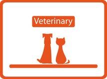Fondo veterinario con gli animali domestici Fotografie Stock Libere da Diritti