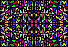 Fondo in vetro macchiato, in mosaico o in caleidoscopio Fotografie Stock Libere da Diritti