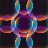 fondo vibrante abstracto del círculo Foto de archivo libre de regalías