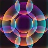 fondo vibrante abstracto del círculo Fotos de archivo libres de regalías