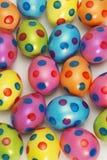 Fondo vibrante del huevo de Pascua Imagenes de archivo