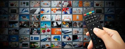 Fondo video de la bandera del web de las multimedias que fluye imágenes de archivo libres de regalías