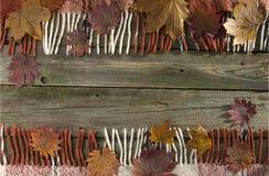 Fondo, viejos tableros con la pintura descolorada, y tela escocesa a cuadros Fotos de archivo
