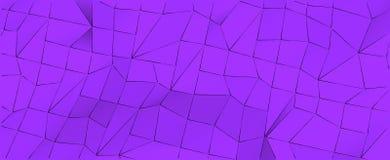 Fondo viola geometrico astratto illustrazione 3D per progettazione della copertura o di web Immagini Stock
