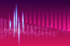 Fondo viola rosa astratto dell'equalizzatore Fotografia Stock Libera da Diritti
