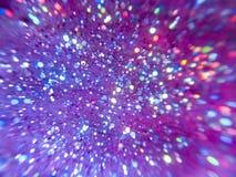 Fondo violeta abstracto con las chispas Foto de archivo