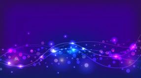 Fondo violeta abstracto con las chispas y las ondas ilustración del vector