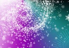 Fondo violeta con el copo de nieve Fotografía de archivo