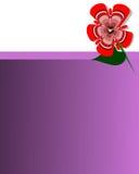Fondo violeta de la tarjeta del marco Ilustración del Vector