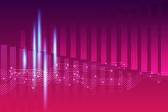 Fondo violeta rosado abstracto del equalizador Foto de archivo libre de regalías