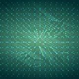 Fondo virtual de la placa de circuito del alambre de la tecnología con las luces Ilustración del vector Fotos de archivo libres de regalías
