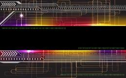 Fondo virtual de la tecnología Imagenes de archivo