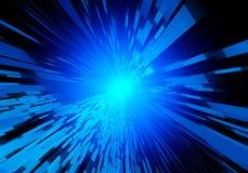 Fondo virtuale di tecnologia, luce blu Fotografia Stock Libera da Diritti