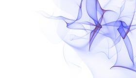Fondo virtuale futuristico di tecnologia, cavi ottici virtuali della fibra, collegamento della fibra, concetto di telecomunicatio Illustrazione Vettoriale