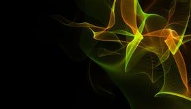 Fondo virtuale futuristico di tecnologia, cavi ottici virtuali della fibra, collegamento della fibra, concetto di telecomunicatio Fotografia Stock Libera da Diritti