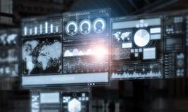 Fondo virtuale moderno di tecnologia Fotografia Stock