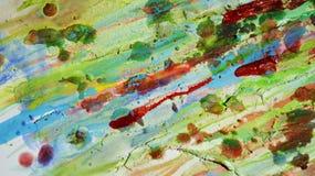 Fondo vivo cereo fangoso giallo rosso verde nelle tonalità vive Fotografia Stock