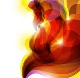 Fondo vivo rojo abstracto ilustración del vector