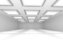 Fondo vuoto bianco dell'interno della stanza Immagini Stock
