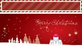 Fondo y bandera de la Navidad Foto de archivo