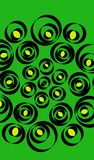 fondo y círculos verdes stock de ilustración