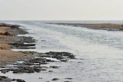 Fondo y contextos del remanso de la playa imágenes de archivo libres de regalías