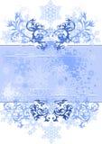 Fondo y copos de nieve florales libre illustration