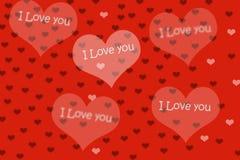 Fondo y corazón rojos Fotografía de archivo libre de regalías