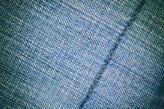Fondo y costura de la textura de los tejanos para el área de texto Foto de archivo libre de regalías