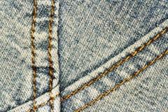 Fondo y costura de la textura de los vaqueros para el área de texto Fotos de archivo libres de regalías