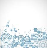 Fondo y espacio futuristas abstractos de la tecnología de circuito para el texto, el vector y el ejemplo ilustración del vector