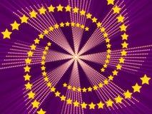 Fondo y estrellas abstractos púrpuras Imagen de archivo libre de regalías