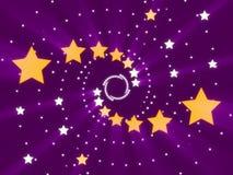Fondo y estrellas abstractos púrpuras Imagenes de archivo