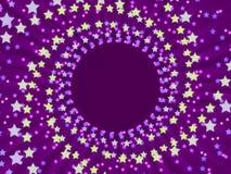 Fondo y estrellas abstractos púrpuras Imagen de archivo