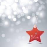 Fondo y etiqueta de la Navidad Imagen de archivo libre de regalías