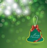 Fondo y etiqueta de la Navidad Fotos de archivo