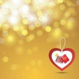 Fondo y etiqueta de las tarjetas del día de San Valentín Foto de archivo libre de regalías