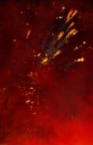 Fondo y explosiones ardientes Foto de archivo libre de regalías