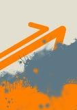 Fondo y flechas de Grunge Foto de archivo libre de regalías
